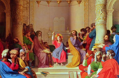 Jesus Among the Doctors 1862 (oil on canvas) Musee Ingres