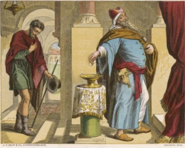 prière du pharisien et du publicain